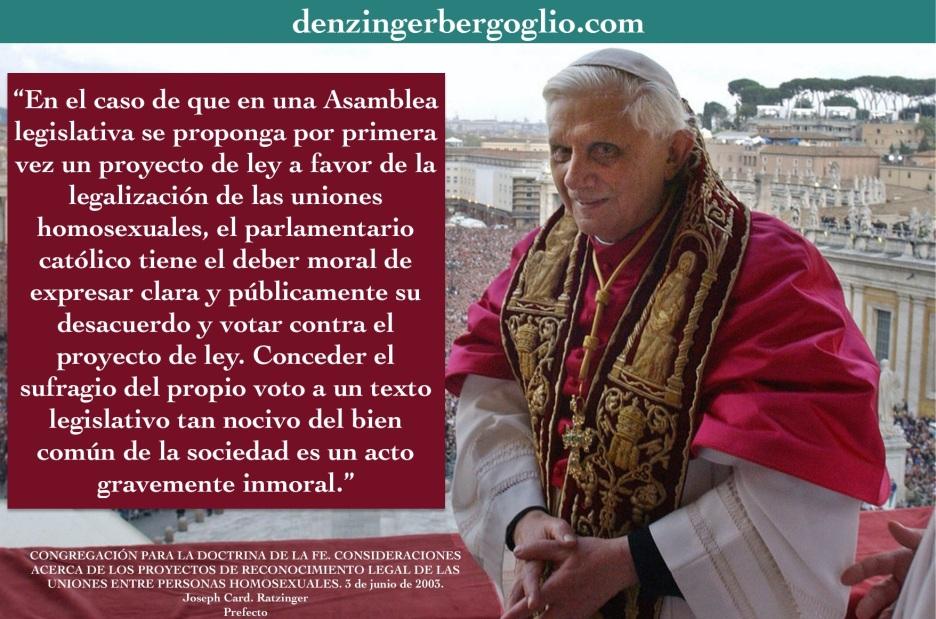 Responsabilidad de un político católico...